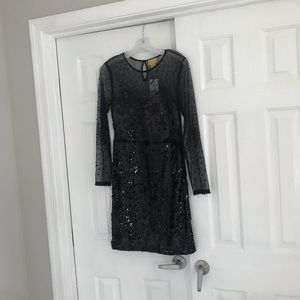 NEW H&M sheer sequin Size 8 dress